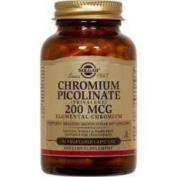 CHROMIUM PICOLINATE 200mcg Solgar 90 cápsulas