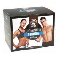 L-Carnitina Strong  3000rmil Sport mg 20 ampollas  15 ml - Natu