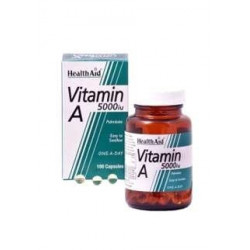 Vitamina A 5000 UI - 100 Cap - Healt Aid