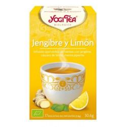 TE JENGIBRE Y LIMON ( YOGI TEA ) BIOLOGICO 17 BOLSITAS 1,8g