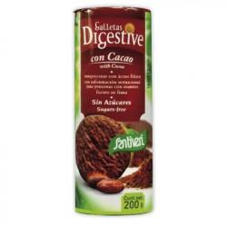Galletas Digestive de cacao sin azúcar ( SANTIVERI )