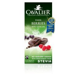 CHOCOLATE NEGRO BELGA CON BAYAS ( CAVALIER )