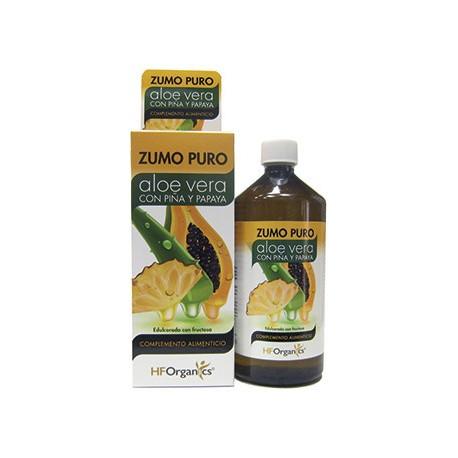 Herbofarm Zumo Puro Aloe Vera, Piña y Papaya 1 litro