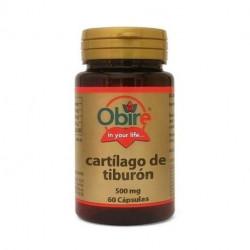 Cartílago de tiburón - 500 mg - 60 cap - Obire