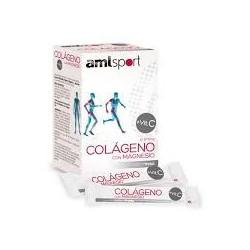 Amlsport - Colágeno con Magnesio - 20 stick fresa - Ana Maria LaJusticia