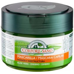 MASCARILLA CAPILAR ALOE VERA Y ENEBRO - CORPORE SANO -250ML