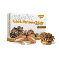 Reishi + Maitake + Shiitake 30 CAPSULAS -NOEFAR