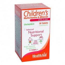 Children's MultiVitamin + Minerals Chewable Tablets - Health Aid