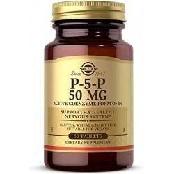 PIRIDOXAL  - 5' - FOSFATO  50 mg (P5'P) (Vitamina B6) - 50 Comprimidos -SOLGAR