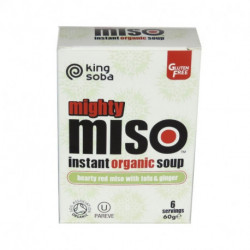 Sopa de miso 60g - queso de soja y jengibre ( KING SOBA )