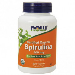 SPIRULINA 500mg 200 Tabs  Now Foods